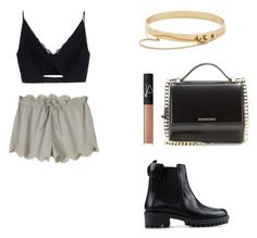 """""""Yesterday"""" by superflylala ❤ liked on Polyvore featuring Versace, Toast, Eddie Borgo, Givenchy, NARS Cosmetics, Topshop, Yves Saint Laurent and RED Valentino"""