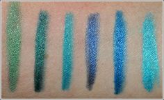 Urban Decay 24/7 Eye Liners: Graffiti, Covet, Flipside, Binge, Deviant, Electric
