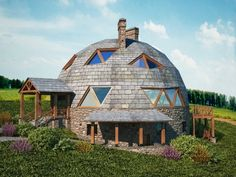 Dream Home Design, House Design, Geodesic Dome Homes, Dome House, Earth Homes, Round House, Sustainable Architecture, Residential Architecture, Beautiful Architecture