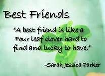 best friends - four leaf clover