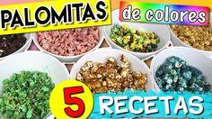 PALOMITAS de COLORES!! Hoy os enseño CINCO maneras diferentes de teñir y dar sabor a las palomitas de maíz RIQUIIIISIMAS! En casa nos encantan las palomitas de maíz que vicio! Espero que este fin de semana pongáis en práctica alguna de las recetas que os dejo en el #tutorial. Podéis ver el vídeo YA en nuestro canal de #YouTube #hoynohaycole o a través de nuestra APP donde ya sabéis que aparece un poquito después pero podéis verlo igualmente. #recetashoynohaycole #popcorn #palomitasdecolores…
