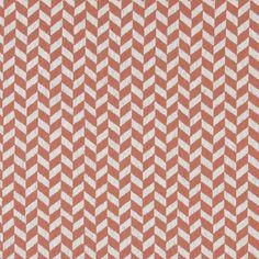 Orange herringbone upholstery fabric