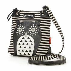 Unionbay Striped Owl Crossbody Bag