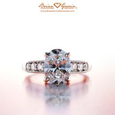 Thalia Side Stone Engagement Ring for Gemstones and Diamonds
