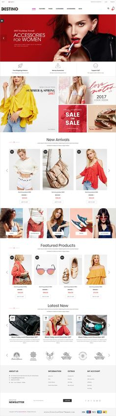 Destino is clean and modern design 11in1 responsive #HTML theme for stunning #fashion shop #eCommerce website download now..