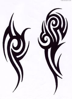 simple tribal animal tattoo - Google Search