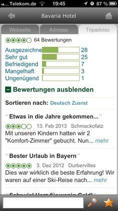 Voll Tripadvisor.de integration in der Garmisch-Partenkirchen App von CityApp Collection