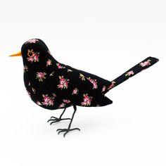 Fabric Bird - BLACKBIRD - Made to Order £55.00