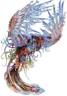 phoenix (color) drawing