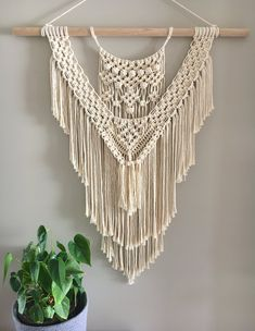 Image of 'She' Macrame Wall Hanging