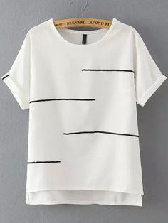 Sleeve Length(cm) :S:19cm,M:20cm Bust(cm) :S:96cm,M:100cm Shoulder(cm) :S:35cm,M:36cm Length(cm) :S:64cm,M:65cm Size Available :S,M Season :Summer Pattern Type :Striped Sleeve Length :Short Sleeve Col