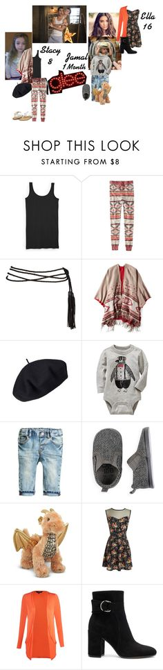 """Kurt's & Blaine's Kid's"" by wonderland-junkie ❤ liked on Polyvore featuring Tucker + Tate, American Eagle Outfitters, Betmar, Old Navy and Gianvito Rossi"