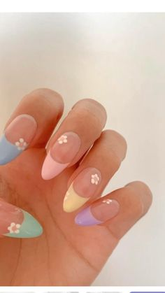 Simple Acrylic Nails, Almond Acrylic Nails, Pink Acrylic Nails, Pastel Nails, Acrylic Nail Designs, Stylish Nails, Trendy Nails, Funky Nails, Glue On Nails