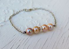 Romantic Fresh Water Pearl and Rhinestone by simplymeart on Etsy