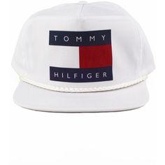 Vintage Tommy Hilfiger Snapback hat (39 CAD) ❤ liked on Polyvore