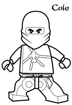 Cole Ninjago Coloring Pages