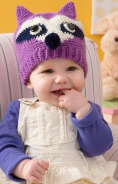 Oh My Adorableness Raccoon Hat: free pattern