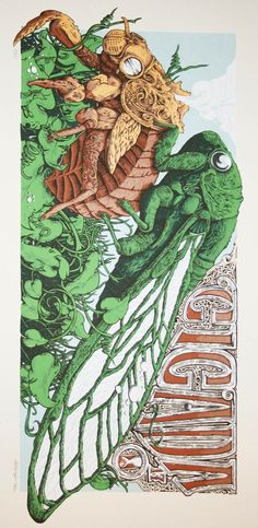 Super intense cicada art by Andrew Ghrist. (Of course he has an Etsy shop.) Thanks to @moojz for the tip!