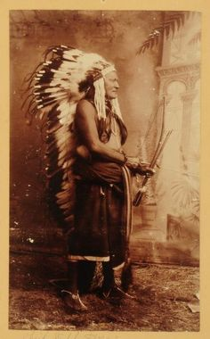 1885 Photo of Comanche Chief Wild Horse