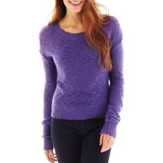 Navy Arizona Slub Knit Sweater found at an awesome ugly purple sweater to avoid the christmas sweaters College Girl Fashion, College Girls, Music Festival Fashion, Purple Sweater, Peep Toe Pumps, Christmas Sweaters, Gowns, Pullover, My Style