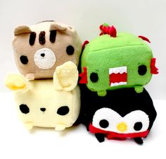 Rectangular Animal Plush  Kawaii Plushie  Cute by HappyCosmos, $15.00