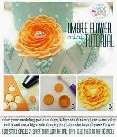 Ombre flower tutorial.