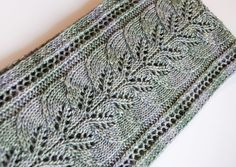 This is my first knitted item (other than a dishcloth) Brooke's Column of Leaves Knitted Scarf Pattern