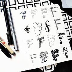 By @namilettering Writing Styles, Bujo, Hand Lettering, Style Me, Fonts, Bullet Journal, Letters, Learning, Inspiration
