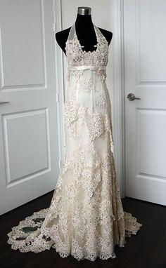 Cymbeline Agadir :  wedding agadir ceremony champagne cymbeline dress gold halter ivory  MG 5348
