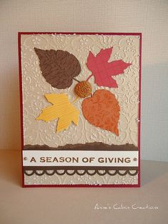 season of giving...handmade card