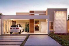 Uma ideia para mudar a fachada da casa sem precisar fazer grandes transformações é optar por uma faixa ou parede texturizada com efeito 3D