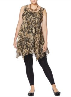 Our Animal Print Top, perfectly styled for a Pear shape. Click the picture to shop the whole outfit at www.evans.co.uk.