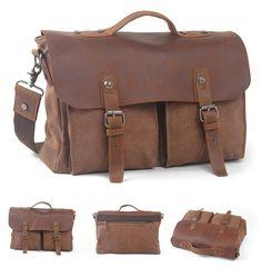Herren Antik Canvas Segeltuch Messenger Bag Schultertasche Umhängetasche Tasche