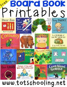 Free Board Book Printables for Toddlers - Printable activities to go along with classic board books!