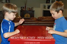 Penny Hockey - A great game to play at restaurants to keep the kids entertained.  All you need is a penny (or any coin for that matter)