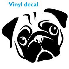 Pug Window Sticker | Cute Dog Decal
