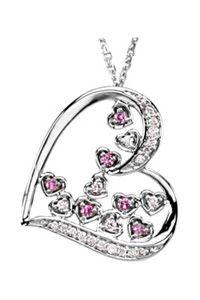 14K Pink Sapphire & Diamond Heart Pendant $485.00 http://www.celebrateyourfaith.com/14K-Pink-Sapphire-amp-Diamond-Heart-Pendant-P8467C897.cfm