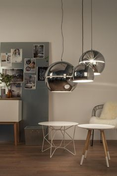 Hanglamp Retro 70 - Chroom - Klein - Zuiver