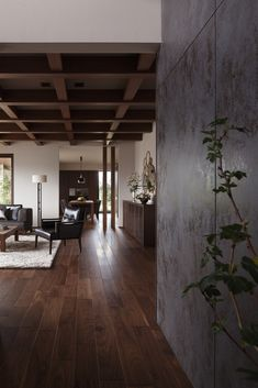 Bahay Kubo, Living Area, Living Room, Walnut Floors, Bedroom Bed Design, House Colors, Luxury Homes, Flooring, Interior Design