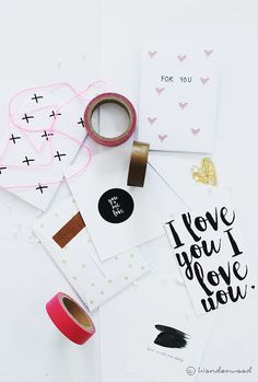 freebie: valentines mini cards + envelopes | wonderwood