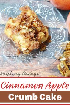 Cinnamon Apple Crumb cake is great for breakfast, brunch or dessert for Thanksgiving and Christmas! This is an easy to make moist apple cake. With this simple and easy dessert recipe, you will get lots of compliments. Moist Apple Cake, Apple Crumb Cakes, Cinnamon Crumb Cake, Cinnamon Apples, Apple Cake Recipes, Baking Recipes, Easy Desserts, Dessert Recipes, Cooking Cake