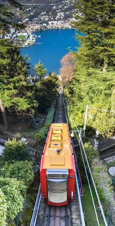 Brunate Tram in Lake Como - Lombardy, Italy