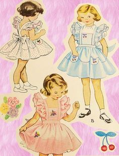 Vintage McCall's - 1950s Girls Pinafore Pattern