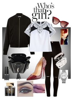 """""""Just a splash of color."""" by chantel-fernandez on Polyvore featuring River Island, T By Alexander Wang, Christian Louboutin, Gucci, Yves Saint Laurent, Valentino, Calvin Klein, Cartier, Hermès and OPI"""