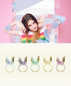 New* Bunny Band Ear Rings #Pastel colors