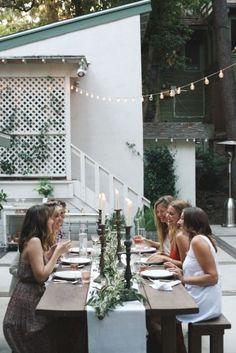 Dîner champêtre entre copines #dinner #rustic #friends