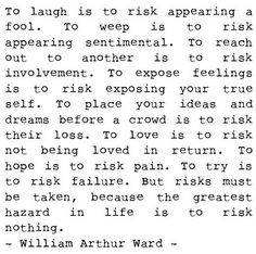 to risk//