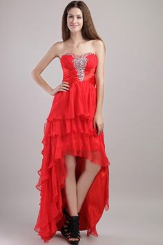 Buy red empire sweetheart high low formal prom dresses with beading in organza from elegant prom dresses collection, strapless empire elegant prom dresses in color,cheap high low elegant prom dresses lace up prom party cocktail party homecoming dresses. Junior Homecoming Dresses, Prom Dress 2013, Strapless Prom Dresses, High Low Prom Dresses, Elegant Prom Dresses, Prom Dress Stores, Prom Dress Shopping, Prom Dresses For Sale, Cheap Evening Dresses