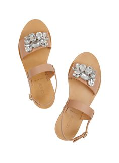 J.Crew / Camden embellished leather sandals