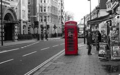 Wallpaper: Iconic Telephone Booths in London